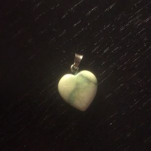 925 Sterling silver and marble heart pendant